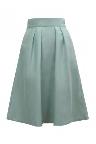 Willow Mint Satin Skirt